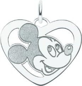 Sterling Silver Disney Mickey Mouse Heart Charm