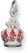 Enamelled Crown Charm, Sterling Silver
