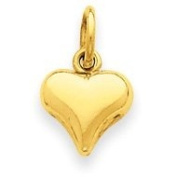 14k Yellow Gold Mini Puffed Heart Charm. Gold Weight- 0.31g.