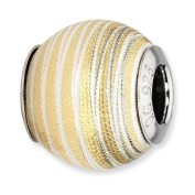 Sterling Silver Reflections Gold-plated Laser Cut Bead