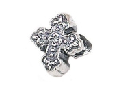 Zable(tm) Sterling Silver Cross, Fancy Bead / Charm
