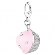 Sterling silver and Enamel CUPCAKE