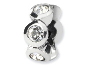 Reflections(tm) Sterling Silver April. Crystal Birthstone Bead / Charm