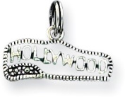 Hollywood Marcasite Enamelled Charm, Sterling Silver