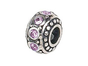 Zable(tm) Sterling Silver Crystal Birthstone June Bead / Charm