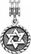 Persona Sterling Silver Star Of David Dangle Charm fits Pandora, Troll & Chamilia European Charm Bracelets