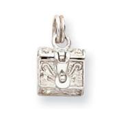 Sterling Silver Cross Prayer Box Charm