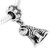 Sterling Silver Shar Pei Dog Dangle Bead Charm