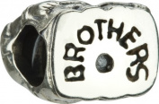 "Authentic Chamilia Sterling Silver Charm ""Brothers"" GE-17"