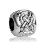 Double Infinity Symbol Bead in Sterling Silver