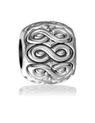Repeating Infinity Symbol Bead in Sterling Silver