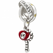 "Authentic Chamilia Disney Charm ""Fairest of Them All"" Yellow CZ 2025-0922"