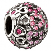 "Authentic Chamilia Charm ""Captured Hearts"" - Pink. 2025-0680"