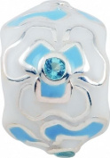 Persona Sterling Silver Aqua & Ice Charm fits Pandora, Troll & Chamilia European Charm Bracelets