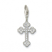 Thomas Sabo Christian Cross White Charm, Sterling Silver