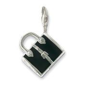 Thomas Sabo Handbag Black Charm, Sterling Silver