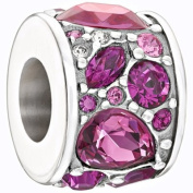 Authentic Chamilia Silver Pink. Mosaic Charm - 2025-0927