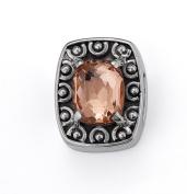 """Bonn Bons® By Lori Bonn """"Always A Bridesmaid"""" Sterling Silver Rosegold Quartz Slide Charms for Charm Bracelets"""