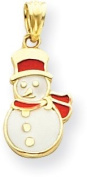 Snowman Charm, 14K Yellow Gold