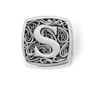 "Bonn Bons® By Lori Bonn Sterling Silver ""S Is For . Initial Slide Charm For Charm Bracelets"
