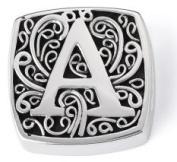 "Bonn Bons® By Lori Bonn Sterling Silver ""A Is For Alluring"" Initial Slide Charm For Charm Bracelets"