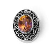 "Bonn Bons® By Lori Bonn ""Sunset Blvd."" Sterling Silver Twilight Topaz Slide Charms for Charm Bracelets"
