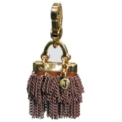 Juicy Couture - Brown Chain Purse (Fringe) - Gold Plated Charm