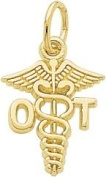 Rembrandt Charms Occupational Therapist Charm, 10K Yellow Gold