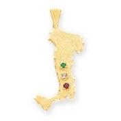 14k Italy Charm - Measures 32x13mm - JewelryWeb