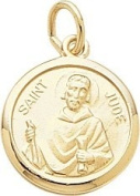 Rembrandt Charms St. Jude Charm, 10K Yellow Gold