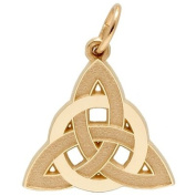 Rembrandt Charms Celtic Circle Charm, 10K Yellow Gold