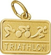 Rembrandt Charms Triathlon Charm, 10K Yellow Gold