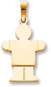 Boy 2D Silhouette Charm, Yellow Gold