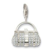Thomas Sabo Handbag White Charm, Sterling Silver