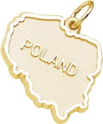 Rembrandt Charms Poland Charm, 10K Yellow Gold