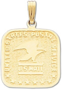 14k USPS US Mail Post Office Pendant