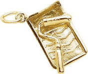 Rembrandt Charms Paint Tray & Roller Charm, 10K Yellow Gold