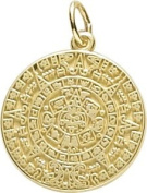 Rembrandt Charms Aztec Sun Charm, 10K Yellow Gold