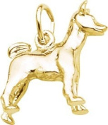 Rembrandt Charms Basenji Charm, 10K Yellow Gold