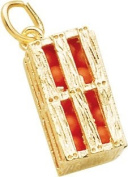 Rembrandt Charms Orange Crate Charm, 10K Yellow Gold
