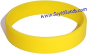 Child Size Yellow Wristband for Kid One Silicone Bracelet