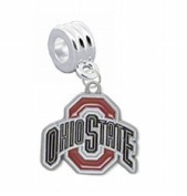 "Ohio State Buckeyes Charm with Connector ""Classic & Original Style"" - Fits"