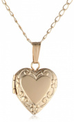 Children's 14k Gold Filled Heart Locket Necklace