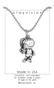 Clayvision Basketball Hoops Girl Pendant Necklace