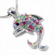Small Multi Colour Dolphin Pendant Fashion Necklace