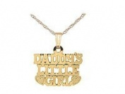 Kids 14K Gold Daddy's Little Girl Pendant With Chain