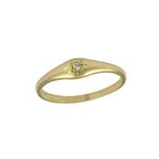 Child Jewellery - 10K Yellow Gold Diamond Ring For Girls