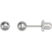 Titanium Ball Piercing Earrings Pair in 3mm - Hypoallergenic For Sensitive Ears