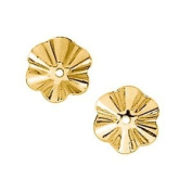 14 Karat Yellow Gold 7.75MM Buttercup Earring Jackets