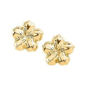 14KY Gold Flower Earring Jacket 13mm Diameter